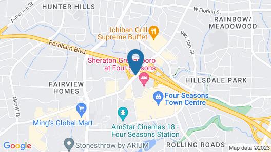 Sheraton Greensboro at Four Seasons Map