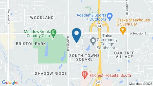 Hilton Garden Inn Tulsa South Map