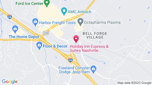 Holiday Inn Express & Suites Nashville Southeast - Antioch, an IHG Hotel Map