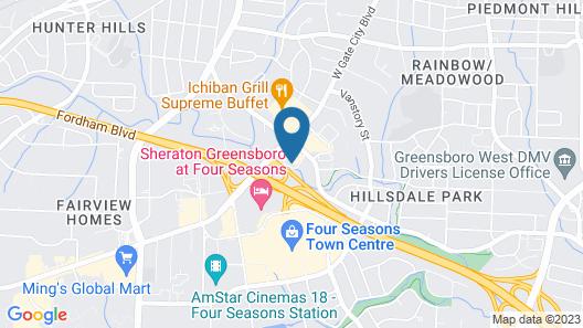 Hampton Inn & Suites Greensboro/Coliseum Area, NC Map