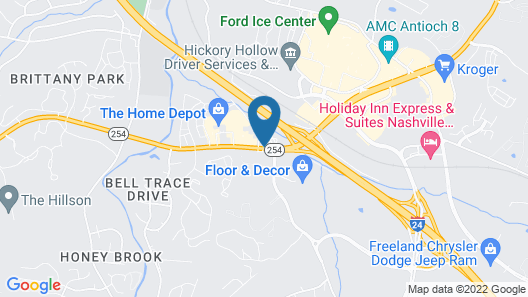 Antioch Quarters Inn and Suites Map