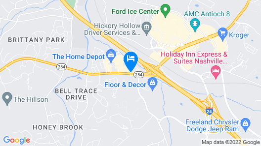 Super 8 by Wyndham Antioch/Nashville South East Map