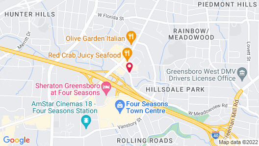 Red Roof Inn Greensboro Coliseum Map