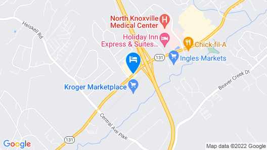 Super 8 by Wyndham Knoxville North/Powell Map