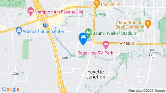 Staybridge Suites Fayetteville/Univ Of Arkansas, an IHG Hotel Map