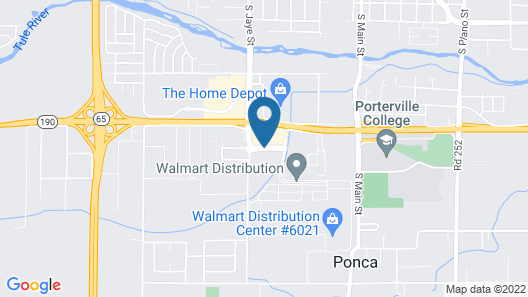 Best Western Porterville Inn Map