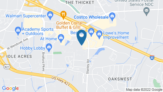 SpringHill Suites by Marriott Greensboro Map