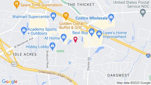 Studio 6 Greensboro, NC - I-40 Map