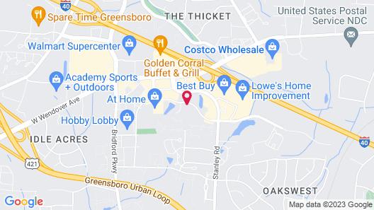 Motel 6 Greensboro, NC - I-40 Map