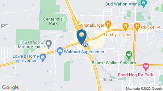Super 8 by Wyndham Fayetteville Map