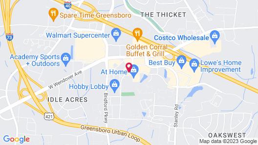 Days Inn by Wyndham Greensboro NC Map