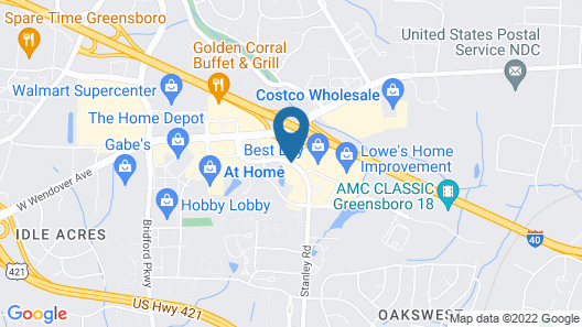 Hyatt Place Greensboro Map