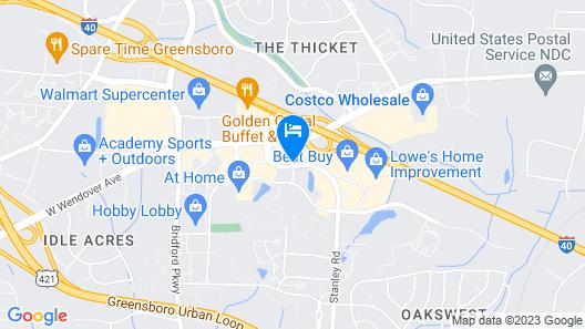 La Quinta Inn & Suites by Wyndham Greensboro NC Map