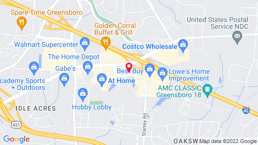 Comfort Inn Greensboro - Kernersville Map