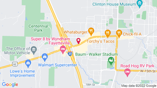 Candlewood Suites Fayetteville – University of Arkansas, an IHG Hotel Map