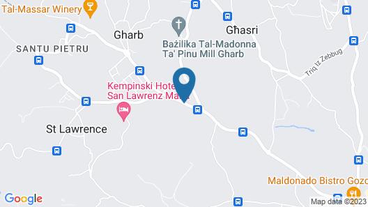 Ta' Pinu B&B Map