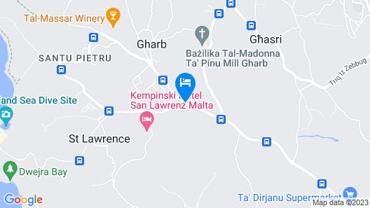 Gozo Holiday House Map