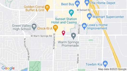 Hilton Garden Inn Las Vegas/Henderson Map