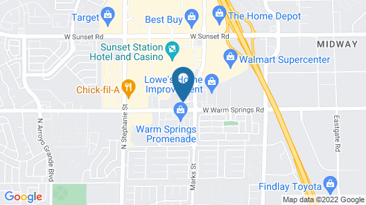 Hampton Inn & Suites Las Vegas-Henderson Map