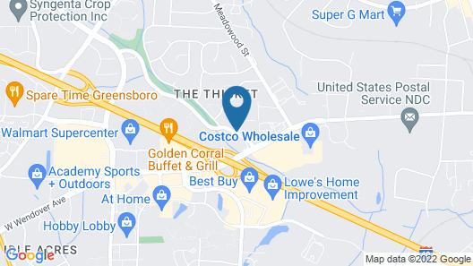 Fairfield Inn & Suites by Marriott Greensboro Wendover Map
