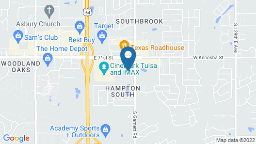 Springhill Suites by Marriott Tulsa Map