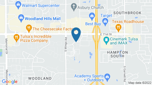 Candlewood Suites Tulsa, an IHG Hotel Map