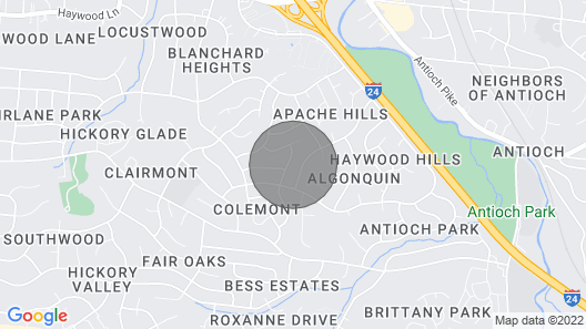 Cozy Little Townhome 10 Min. Airport, 15 Min. Downtown, 20 Min. Brentwood Map