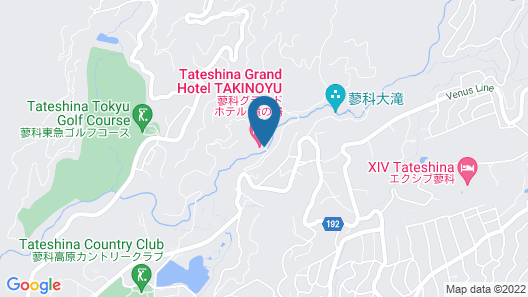Tateshina Grand Hotel Takinoyu Map