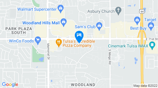 Comfort Inn South Tulsa - Woodland Hills Map