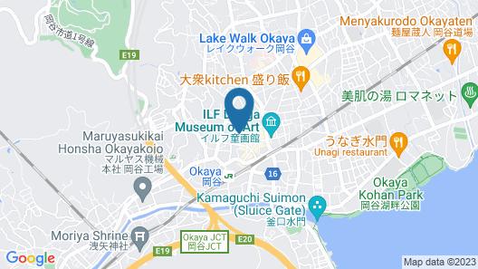 Hotel Crown Hills Okaya Map