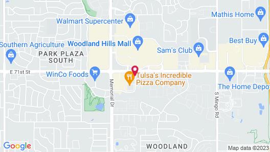 Hampton Inn & Suites Tulsa-Woodland Hills 71st-Memorial Map