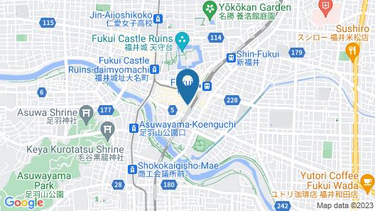 Fukui Manten Hotel Ekimae Map
