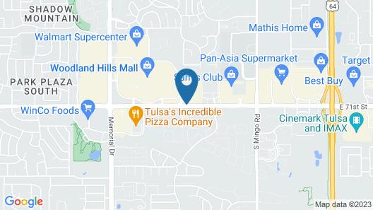 Courtyard by Marriott Tulsa Woodland Hills Map