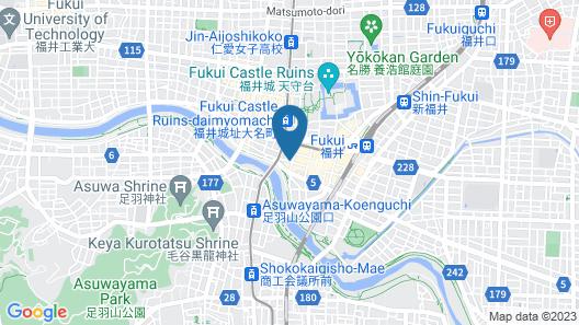 Dormy Inn Fukui Natural Hot Springs Map