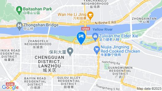 Lanzhou Longshang Mingzhu Apartment Three-bedroom suite Map
