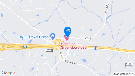 Hampton Inn Greensboro East / McLeansville Map