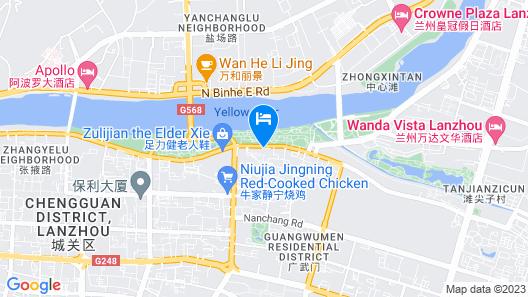 Hyatt Regency Lanzhou Map