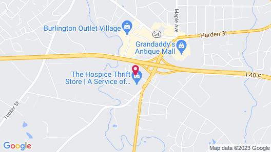 Knights Inn Burlington, NC Map