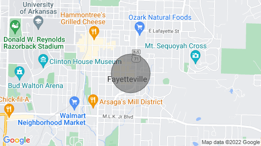 Artists Studio on the Historic Downtown Fayetteville Square! Map