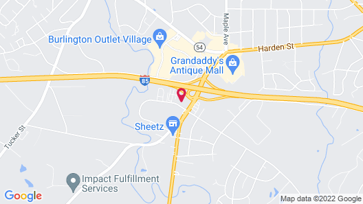 Econo Lodge Burlington I-40 Map