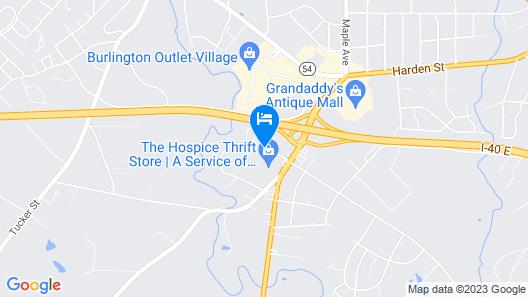 Microtel Inn & Suites by Wyndham Burlington Map