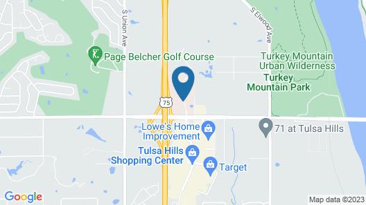 Hampton Inn & Suites Tulsa/Tulsa Hills Map