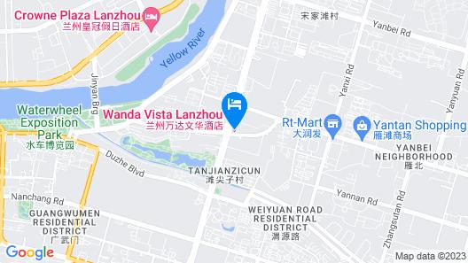 Wanda Vista Lanzhou Map