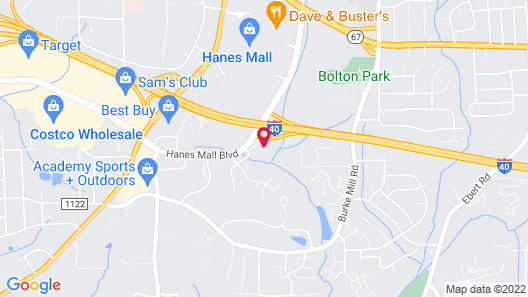 Comfort Suites Hanes Mall Map