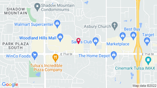 Holiday Inn Express & Suites Tulsa South - Woodland Hills, an IHG Hotel Map
