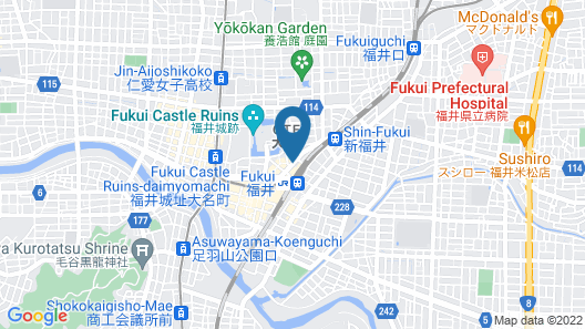 Hotel Route-Inn Fukui Ekimae Map