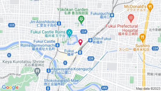 Toyoko Inn Fukui Ekimae Map