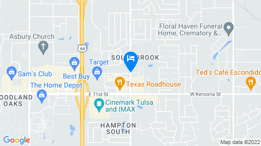Homewood Suites by Hilton Tulsa-South Map