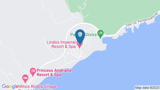 Lindos Breeze Beach Hotel Map