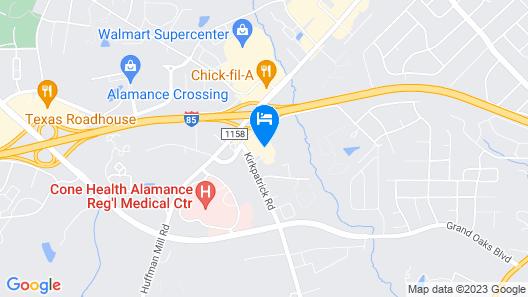 Hampton Inn & Suites Burlington, NC Map